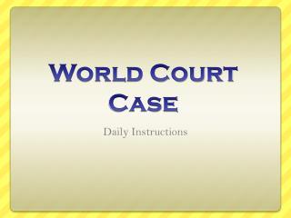 World Court Case