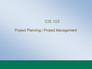 CIS 103