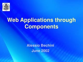 Web Applications through Components