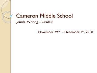 Cameron Middle School