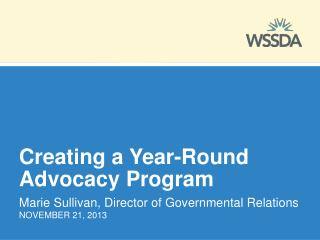 Creating a Year-Round Advocacy Program