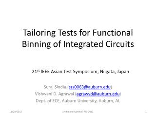 Tailoring Tests for Functional Binning of  Integrated Circuits