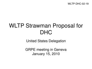 WLTP Strawman Proposal for DHC