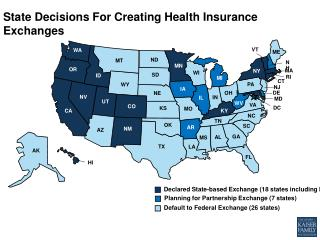 State Decisions For Creating Health Insurance Exchanges