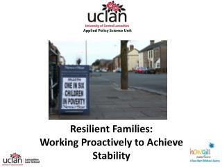 Resilient Families: Working Proactively to Achieve Stability