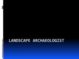 Landscape Archaeologist
