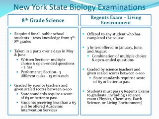 New York State Biology Examinations
