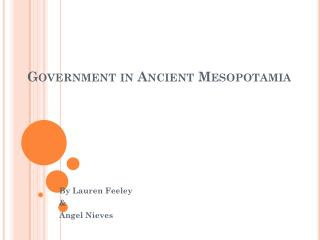 Government in Ancient Mesopotamia