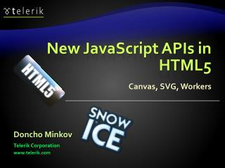 New JavaScript APIs in HTML5