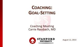 Coaching: Goal-Setting