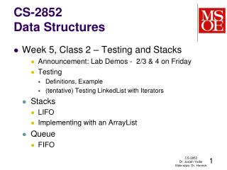 CS-2852 Data Structures