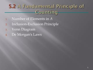 5.2  A Fundamental Principle of Counting