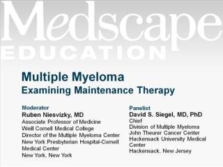 Multiple Myeloma Examining Maintenance Therapy