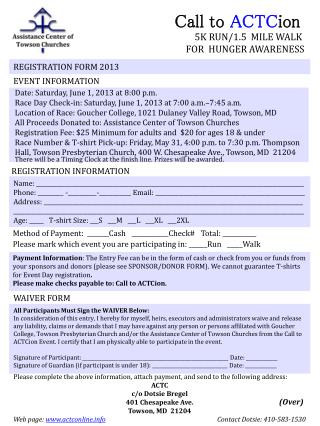 REGISTRATION FORM  2013