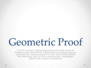 Geometric Proof