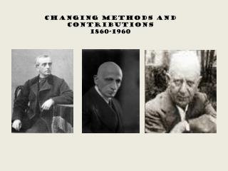 Changing Methods and Contributions 1860-1960