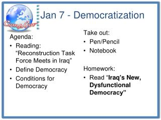 Jan 7 - Democratization