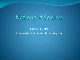 National 4 Science