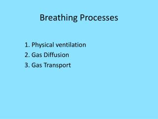 Breathing Processes