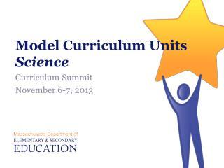 Model Curriculum Units Science