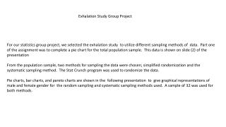 Exhalation Study Group Project