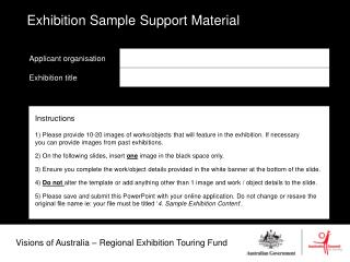 Visions of Australia � Regional Exhibition Touring Fund