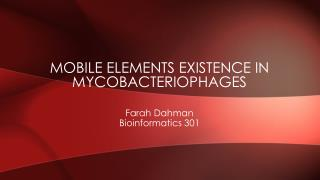 Mobile elements existence in  mycobacteriophages