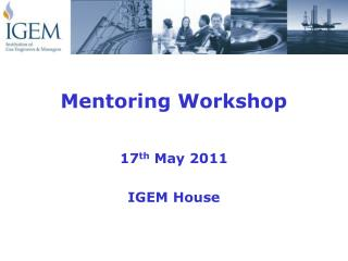 Mentoring Workshop