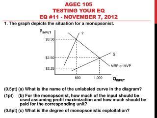 AGEC 105 Testing your EQ EQ  #11 - November 7, 2012