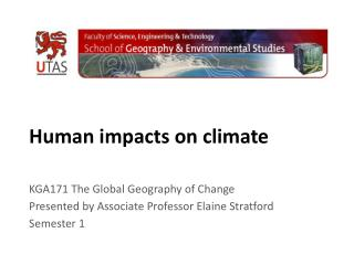 Human impacts on climate