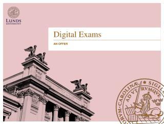 Digital Exams