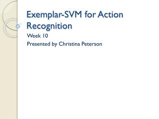 Exemplar-SVM for Action Recognition