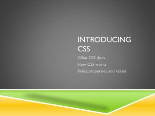 Introducing CSS
