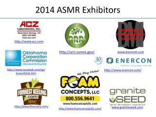 2014 ASMR Exhibitors