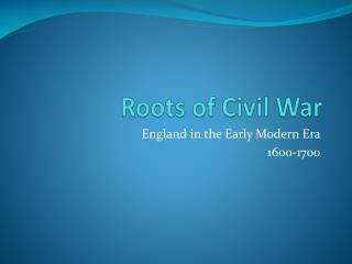 Roots of Civil War