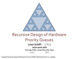 Recursive Design of Hardware Priority Queues