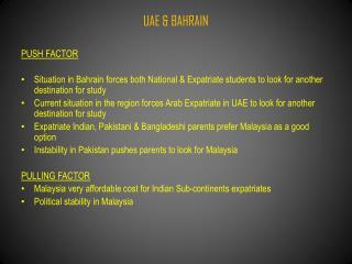 UAE & BAHRAIN