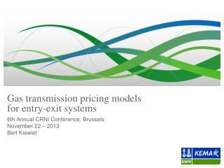 Gas transmission pricing models  for entry-exit systems