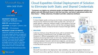 MICROSOFT AZURE ISV :  Lieberman Software Corp. WEB SITE :  liebsoft