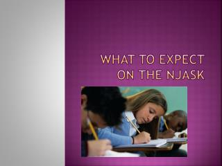 What to expect on the NJASK