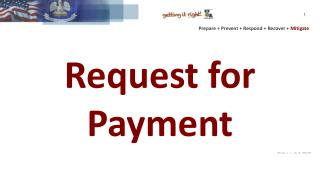 Request for Payment