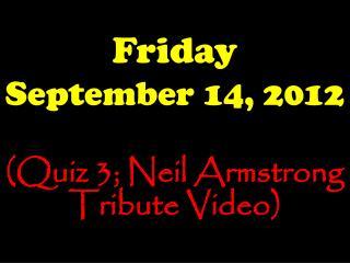 Friday September 14, 2012