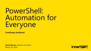PowerShell: Automation for Everyone