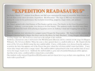 """ EXPEDITION  READASAURUS """