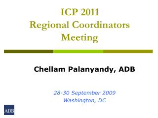 ICP 2011  Regional Coordinators Meeting