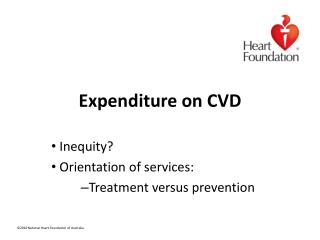 Expenditure on CVD