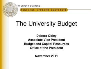 The University Budget