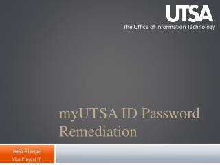 myUTSA ID Password Remediation