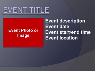 EVENT TITLE