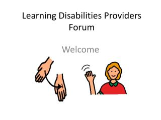 Learning Disabilities Providers Forum